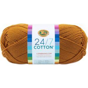 The Best Yarn Option: Lion Brand Yarn 761-158 24-7 Cotton Yarn