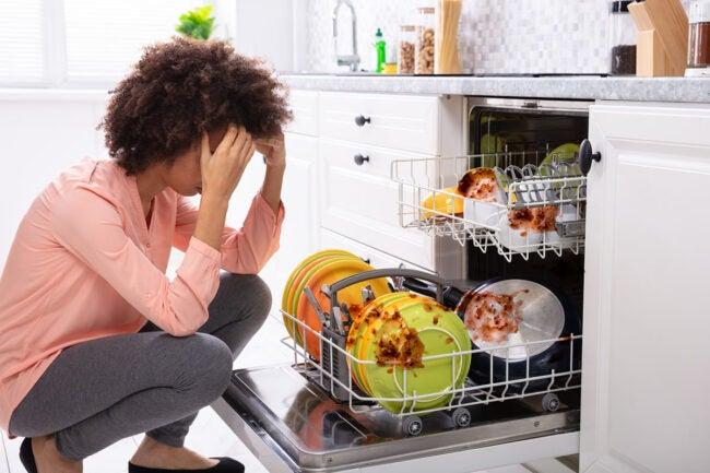 洗碗机没有得到水