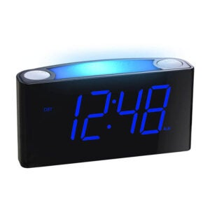 The Best Alarm Clock for Heavy Sleepers Option: Mesqool Alarm Clock for Bedrooms 7 Color Night Light