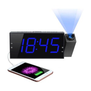 The Best Alarm Clock for Heavy Sleepers Option: Mesqool Projection Digital Alarm Clock, Large LED