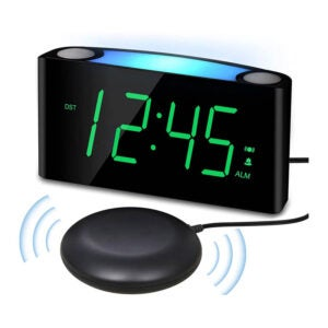 The Best Alarm Clock for Heavy Sleepers Option: PPLEE Vibrating Loud Alarm Clock with Bed Shaker