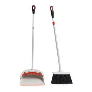The Best Broom for Hardwood Floors Option: OXO Large Upright Sweep Set