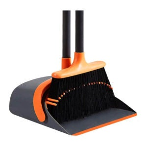 The Best Broom for Hardwood Floors Option: SANGFOR Dust Pan and Broom Set