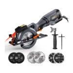 The Best Compact Circular Saw Option: TACKLIFE Circular Saw with Metal Handle, 6 Blades