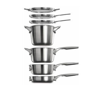 The Best Cookware Set Option: Calphalon Premier Space Saving Stainless Steel
