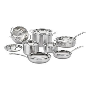 The Best Cookware Set Option: Cuisinart MCP-12N Multiclad Pro Stainless Steel