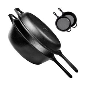 The Best Cookware Set Option: Cuisinel Pre-Seasoned Cast Iron 2-In-1 Multi Cooker