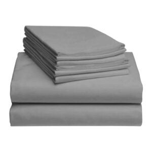 The Best Deep Pocket Sheets Option: LuxClub 6 PC Sheet Set Bamboo Sheets Deep Pockets