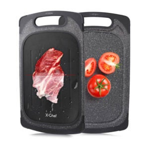 The Best Defrosting Tray Option: X-Chef 2 in 1 Meat Thawing Cutting Board