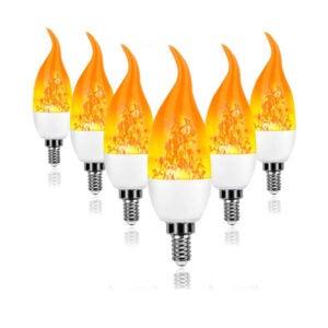 The Best Flame Light Bulb Option: Artistic Home Dormily LED Flame Effect Light Bulbs