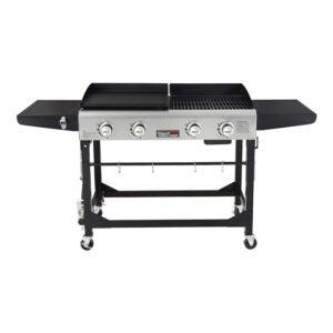 最好的平顶烤架选择:皇家美食GD401便携式丙烷燃气烤肉组合
