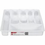 The Best Flatware Organizer Option: Rubbermaid Cutlery Tray, Large, White