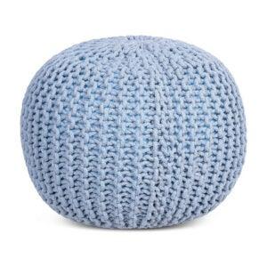 最好的地板椅子选择:鸟岩家圆形Pouf土耳其编织地板椅子