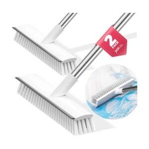 The Best Floor Scrubber Option: JIGA 2 Pack Floor Scrub Brush with Long Handle