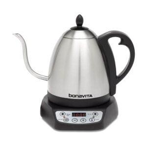 The Best Gooseneck Kettle Option: Bonavita 1.0L Variable Temperature Electric Kettle