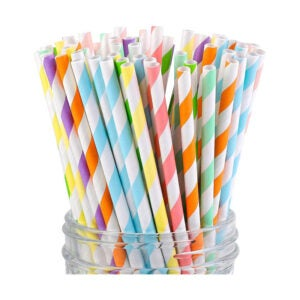 The Best Paper Straws Option: Cooraby Easter Colors Paper Straws