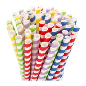 The Best Paper Straws Option: HIWARE Extra Wide Paper Smoothie & Boba Straws