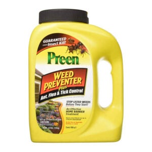 The Best Pre-Emergent Herbicide Option: Preen Weed Preventer Plus Ant, Flea, & Tick Control