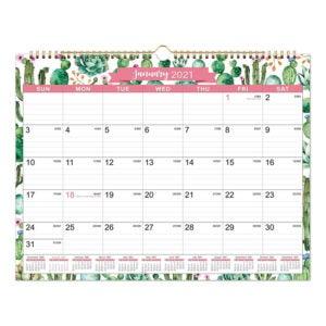 The Best Wall Calendar Option: Maalbok 2021 Calendar - 12 Months Wall Calendar