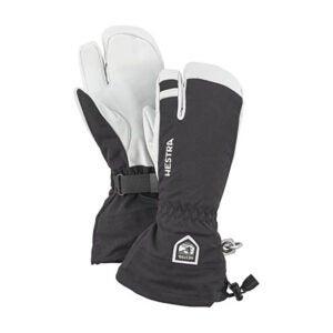 最好的防水手套选项:赫斯特拉军皮革Heli滑雪手套
