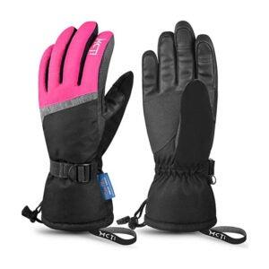 最佳防水手套选择:MCTi滑雪手套,冬季防水滑雪板雪3M