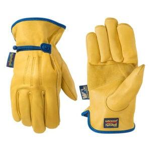 最好的防水手套选项:Wells Lamont Men的Hydrahyde皮革工作手套