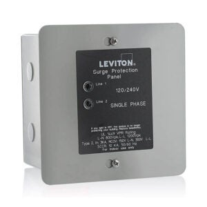 The Best Whole-House Surge Protector Option: Leviton 51120-1 120 240 Volt Panel Protector, 4-Mode