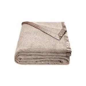 最好的羊毛毯选项:斯宾塞和惠特尼羊毛毯米色人字形