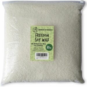 The Best Candle Wax Option: American Soy Organics- 10 lb Freedom Soy Wax Beads