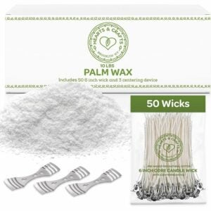 The Best Candle Wax Option: Hearts and Crafts Feathering Palm Candle Wax & Wicks