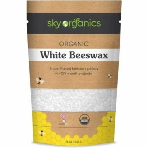 The Best Candle Wax Option: Sky Organics Organic White Beeswax Pellets (1lb)