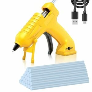 The Best Cordless Glue Gun Option: AONOKOY Cordless Hot Glue Gun USB Rechargeable