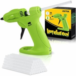 The Best Cordless Glue Gun Option: OUTUL Hot Melt Glue Gun with 30pcs Mini Glue Sticks