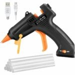 The Best Cordless Glue Gun Option: TOPELEK Cordless Hot Glue Gun with 10Pcs Glue Sticks