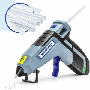 The Best Cordless Glue Gun Option: WORKPRO Cordless Hot Glue Gun, Fast Preheating Kit