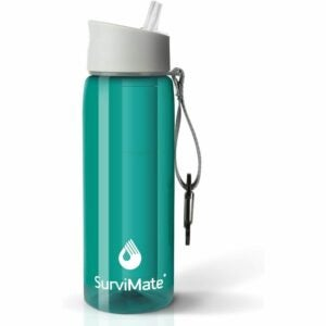 The Best Filter Water Bottle Option: Survimate BPA Free 4-Stage Filtered Water Bottle