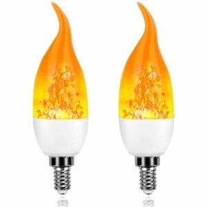 The Best Flame Light Bulb Option: Artistic Home Dormily Xmas Decor Flame Light Bulbs