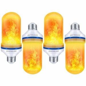 The Best Flame Light Bulb Option: CPPSLEE LED Flame Effect Light Bulb, 4 Modes