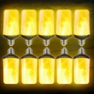 The Best Flame Light Bulb Option: Dyforce LED Flame Effect Bulbs, 4 Modes, 10-Pack
