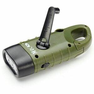 The Best Hand Crank Flashlight Option: MECO Hand Cranking Solar Powered Flashlight