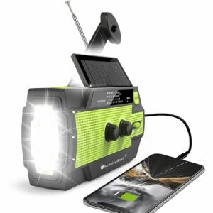 The Best Hand Crank Flashlight Option: RunningSnail Emergency Crank Radio with Flashlight