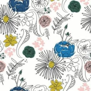 The Best Peel And Stick Wallpaper Option: Fine Point Floral by Chasing Paper