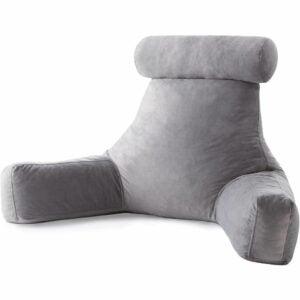 The Best Reading Pillow Option: Linenspa Shredded Foam Reading Pillow, Neck Support