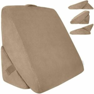 The Best Reading Pillow Option: Xtra-Comfort Bed Wedge Pillow - Folding Memory Foam