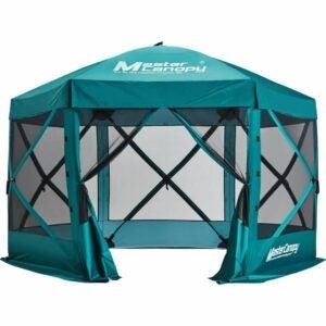 最佳屏幕帐篷选择:MASTERCANOPY逃生庇护所,6边Canopy