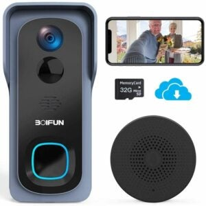 The Best Self Monitored Home Security System Option: BOIFUN WiFi Video Doorbell Camera, 1080P HD Wireless
