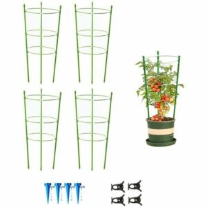 The Best Tomato Cages Option: Mimeela 4 Pack Garden Plant Support Tomato Cage