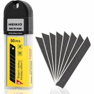 The Best Utility Knife Blades Option: HEIKIO 18mm Snap-off Blades 50-Pack