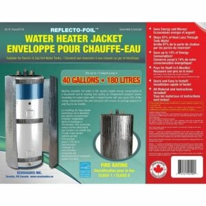 The Best Water Heater Blanket Option: REFLECTIVE FOIL HOT WATER TANK HEATER 40 Gallons