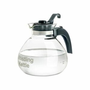 The Best Whistling Tea Kettle Option: CAFÉ BREW COLLECTION Glass Whistling Tea Kettle